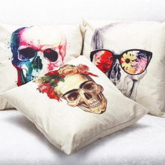 Artsy Skull Pillows
