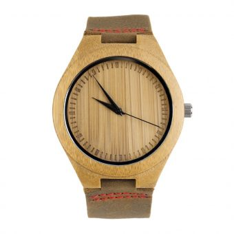 Bamboo Wood Grain Timepiece