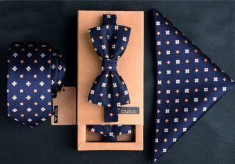 3 Piece Dapper Set – Neck Tie, Bow Tie and Pocket Square