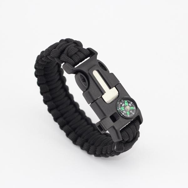 Adjustable Buckle Paracord Survival Parachute Cord Bracelet Buckle Whistle U9