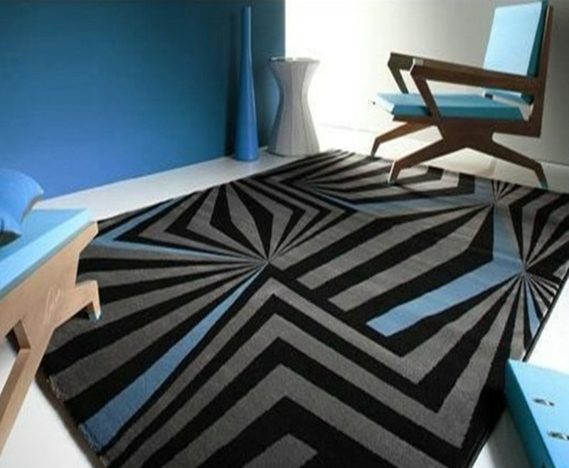 New Arrival Gray Abstract Handmade Acrylic Carpet Rugs