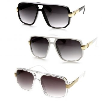 Classic Square Frame Aviator Sunglasses