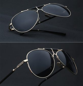 Metal Framed Aviator Sunglasses