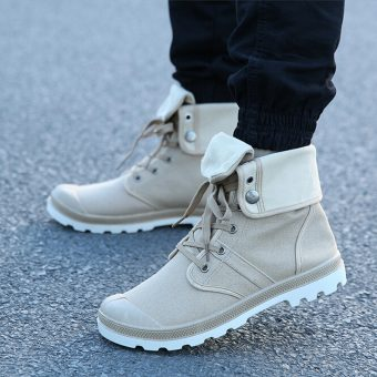 Fold-over Military Boots