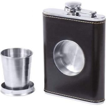Flask with Built-in Shot Glass