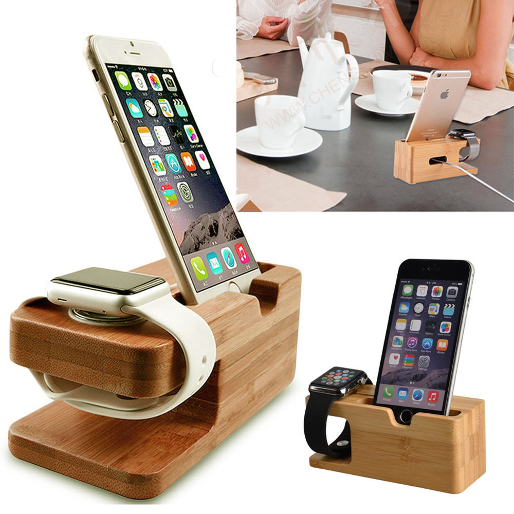 bamboo iphone and apple watch charging station uno company. Black Bedroom Furniture Sets. Home Design Ideas