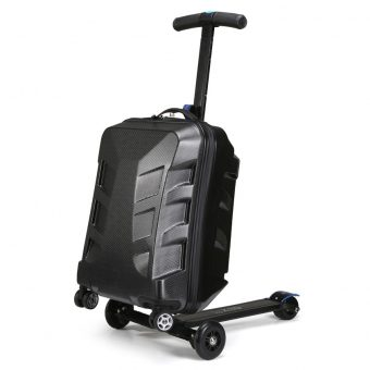 Suitcase with built-in scooter