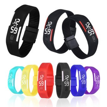 Silicone Strap Digital LED Watches in Various Colors
